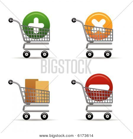 Shopping Trolleys Icons