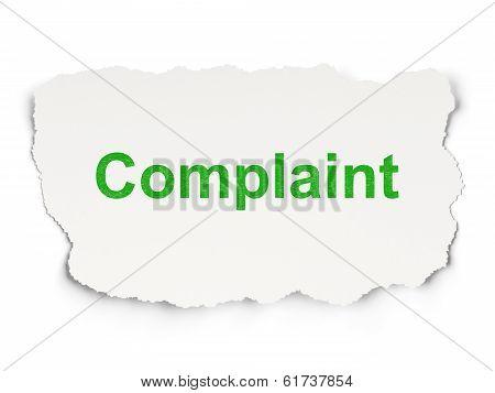 Law concept: Complaint on Paper background