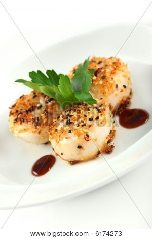 Sesame Ginger Scallop With Hoisin Sauce