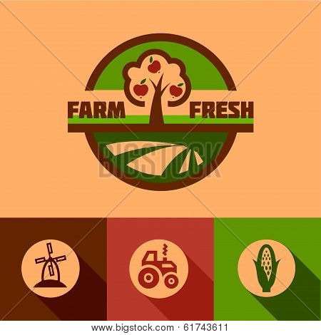 flat farm emblems