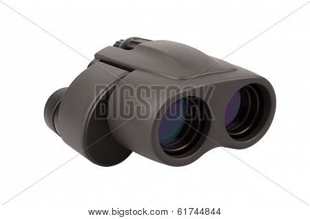 Black Binocular, Isolated On White