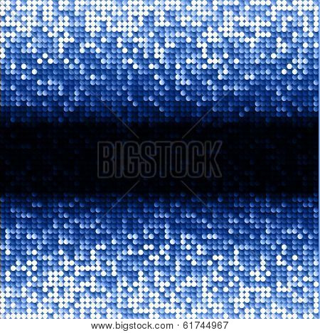 Blue seamless shimmer background with shiny light and dark paillettes. Sparkle glitter background. Abstract Geometric Background. Abstract technology background, vector illustration
