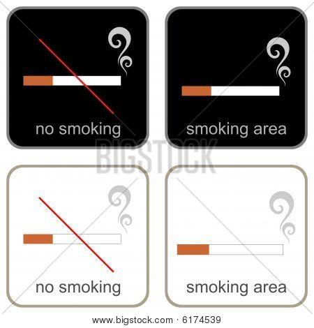 No Smoking & Smoking Area - signs