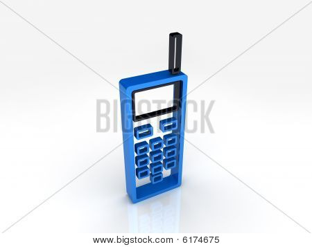 Blue Mobile Phone