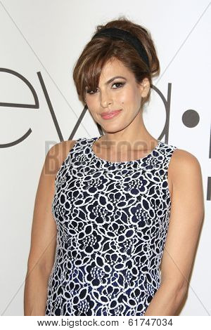 LOS ANGELES - MAR 18: Eva Mendes at the Eva Mendes & New York & Company launches the Eva Mendes for NY&C with a pop-up shop on March 18, 2014 in Los Angeles, CA