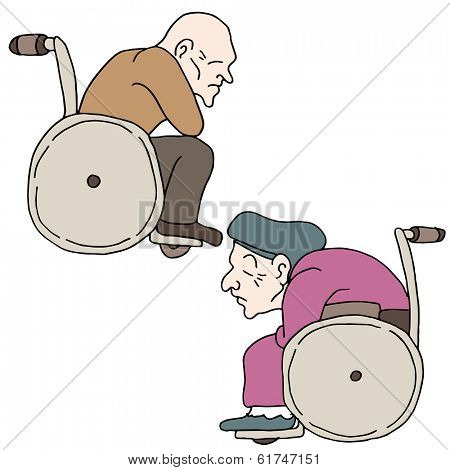 An image of disabled elderly people.