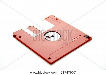 Red diskette for computer