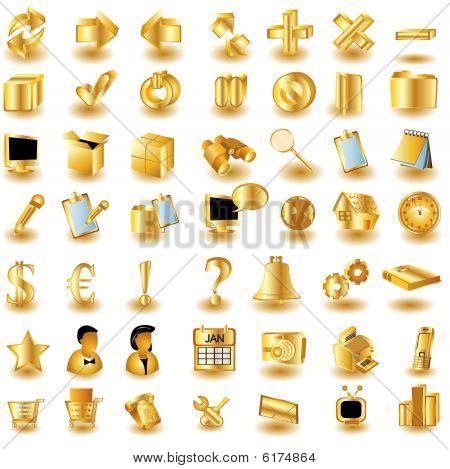 Iconos de la interfaz de oro