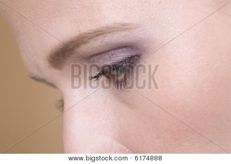 Womans Face Close Up