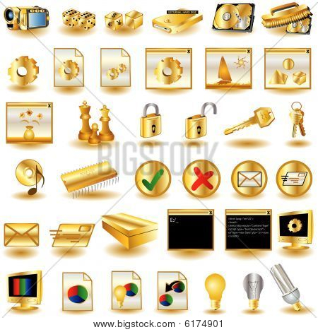 Iconos de la interfaz de oro 3