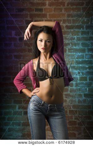Sensual Asian Fashion Girl