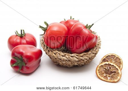 Red paprika with tomato