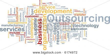 Outsourcing palabra nube