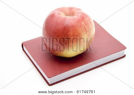 Fresh Red Apple with Appoinment Book