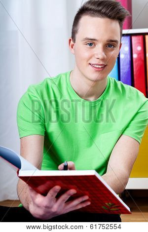 Young Boy Doing Homework