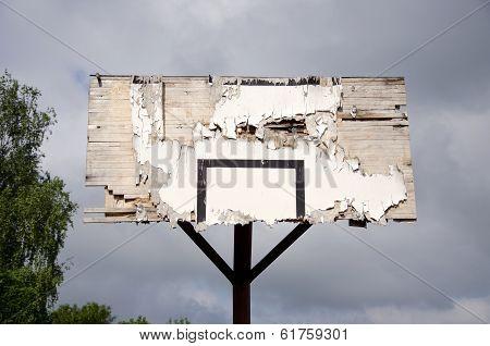 Old Broken Basketball Backboard