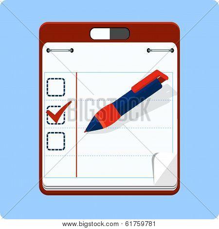 To do list and check box