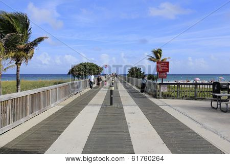 Fishing Pier At Pompano Beach