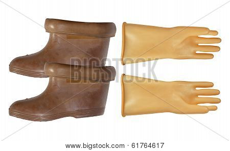 Gloves And Boots Dielectric