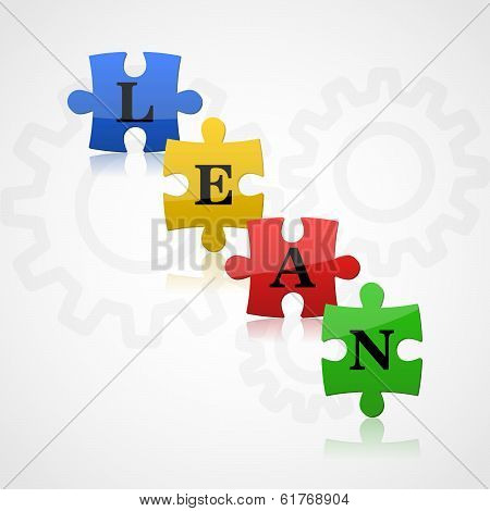 Fresh Color Puzzles With Word Lean On The Background