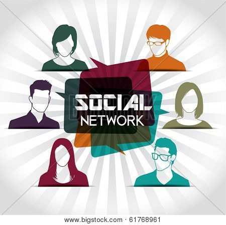 Social network with group of people