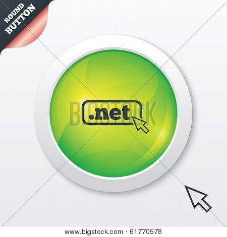 Domain NET sign icon. Top-level internet domain