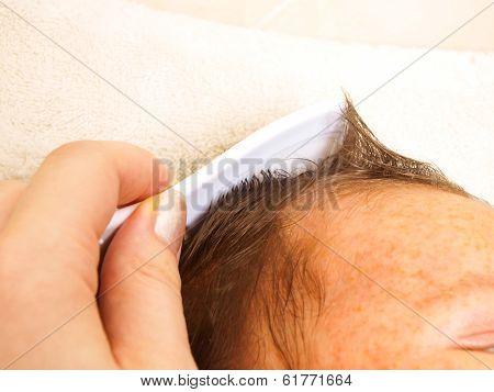Combing Baby Hair