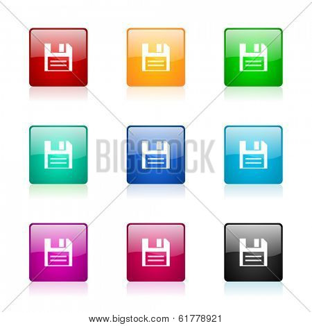disk web icons set