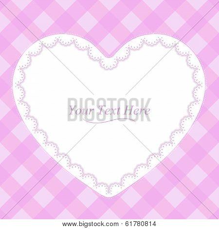 Heart Shaped Pink Frame