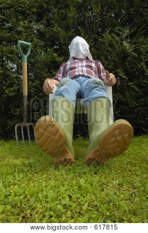 Exhausted Gardener