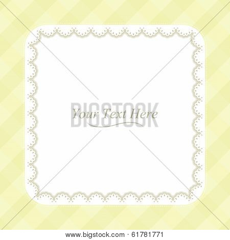 Yellow Frame Square