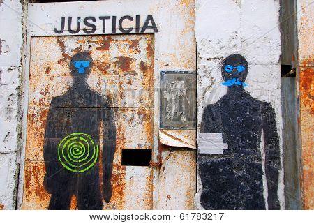 Street art downtown Ushuaia