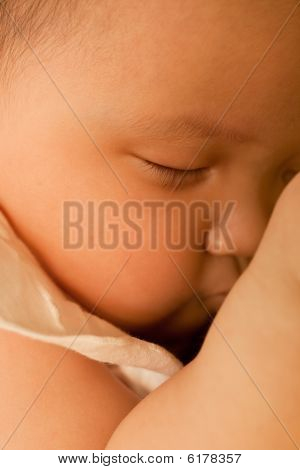 Sleeping Asian Baby