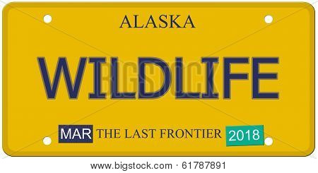 Wildlife Alaska License Plate