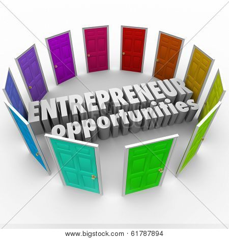 Entrepreneur Opportunities Doors New Business Ownership Ideas