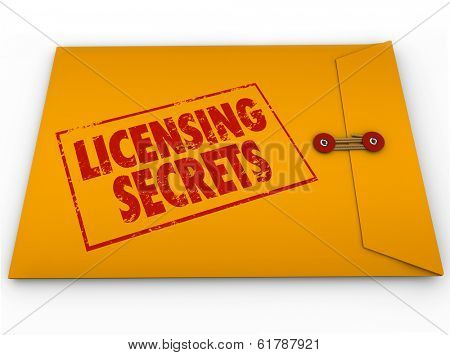 Licensing Secrets Envelope Official Authorization Information