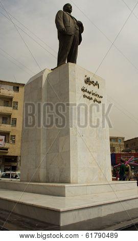 Statue of Iraqi poet  Maarouf Rusafi