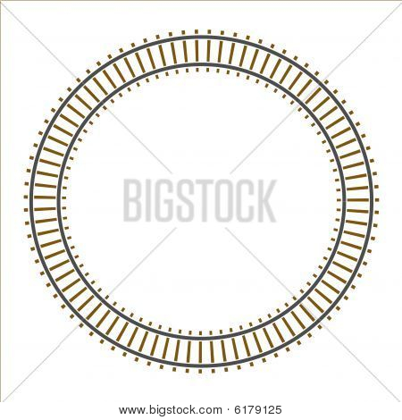 Infinity circle train railway track
