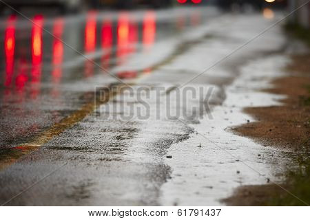 Heavy Rain On The Road