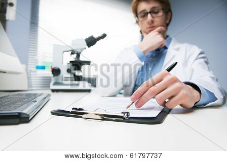 Researcher Writing Notes