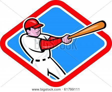 Baseball Player Batting Cartoon