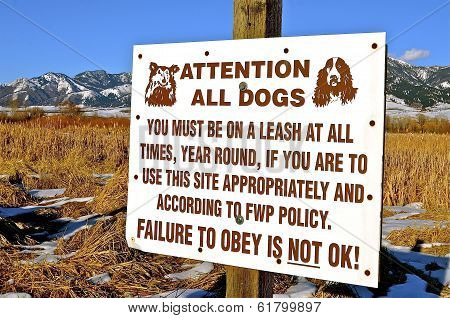 Warning Sign for Reading Dogs