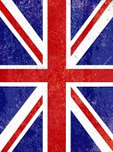 picture of emo  - Union Jack flag background with a grunge effect - JPG