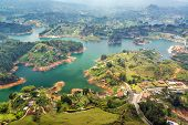 picture of medellin  - View of Guatape Lake from high above in Colombia - JPG