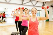image of step aerobics  - fitness - JPG