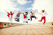 stock photo of break-dancing  - summer - JPG
