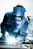 stock photo of welding  - Welding work - JPG