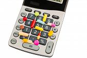 picture of placebo  - tablets lie on a calculator - JPG