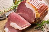 stock photo of flesh air  - prosciutto - JPG