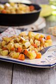 foto of hash  - Apple and root vegetable hash with potato - JPG